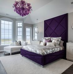 The Do's and Don'ts of Romantic Bedroom Ideas You might think what is an ideal luxury furniture. Luxury bedroom furniture is frequently more durable t. Purple Bedroom Decor, Purple Bedrooms, Bedroom Colors, Home Decor Bedroom, Bedroom Ideas, Romantic Purple Bedroom, Purple Master Bedroom, Bedroom Designs, Luxury Bedroom Furniture