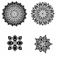 Lion Tattoo Design, Mandala Tattoo Design, Mandalas Drawing, Leaf Drawing, Flower Mandala, Mandala Art, Body Art Tattoos, Sleeve Tattoos, Inkscape Tutorials