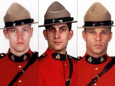 From left: Const. Fabrice Georges Gevaudan and Const. Douglas James Larche appear in photos released by the RCMP. They were fatally shot by a gunman in Moncton on Wednesday, June 2014 I Am Canadian, Canadian History, Police Uniforms, Police Officer, Dave Ross, Moncton Nb, National Police, Atlantic Canada, O Canada