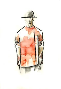 Love this crayon, pencil and ink paper collaboration. Fresh and 'painting looking'. For Judson Harmon.