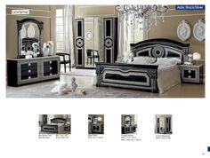 Black And Silver Bedroom Furniture Silver Plum Bedroom Furniture Classic Bedrooms Aida Black Wsilver Camelgroup Italy Esf Wholesale Furniture Aida Black Wsilver Camelgroup Italy Classic Bedrooms Bedroom Victorian Bedroom Furniture, King Size Bedroom Furniture, Classic Bedroom Furniture, Bedroom Furniture Design, Black Furniture, Black And Silver Bedroom, Silver Bedroom Decor, Black Bedroom Sets, Black Silver