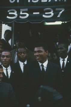 Muhammad Ali with the brothers of the Nation.