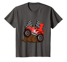 Kids Grade Boys Racing Truck First Grader School T-Shirt School Trends, Grade 1, Branded T Shirts, Fashion Brands, Truck, Racing, Amazon, Boys, Mens Tops
