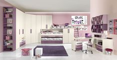 The world of the designer child's bedroom, interpreted using high-performance materials, an important, vibrant room, a place for living, play and homework. http://www.giessegi.it/en/collections/kids-bedrooms/?utm_source=pinterest.com&utm_medium=post&utm_content=&utm_campaign=post-camerette