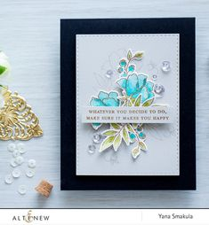 Here's another beautiful example from using Beautiful Quotes Stamp Set. www.altenew.com