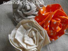 Fabric flower tutorial by Susie Harris