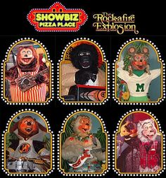 Showbiz Pizza:  Games, fun, and the Rockafire Explosion band!