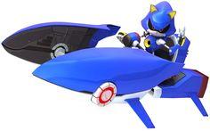 Metal Sonic & Vehicle - Sonic & Sega All-Stars Racing