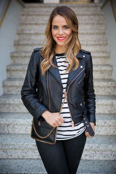 Stripes & Leather | Gal Meets Glam