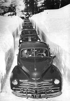 Idaho….1952....that's about right! I've seen the snow that high in Idaho. Sun Valley area