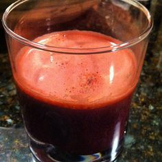 carrots, Kale, red swiss chard, apples, pomegranate, celery, romaine hearts, beets, ginger,lemon