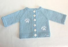 Knitted blue baby set hat and jacket MADE TO ORDER por Tuttolv