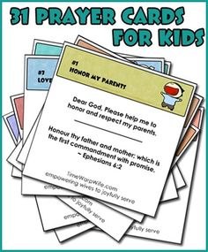 31 Prayer Cards for Kids