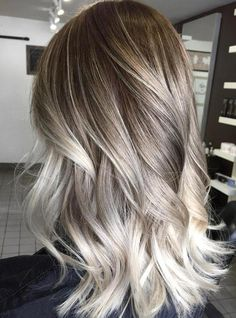 Ash Blonde Ombre Balayage