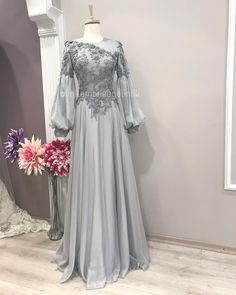 2019 New collection 🌾 Firuze Modeli🌾 Hijab Gown, Hijab Evening Dress, Hijab Dress Party, Evening Gowns, Party Dresses, Prom Dress, Muslimah Wedding Dress, Hijab Wedding Dresses, Evening Dresses For Weddings