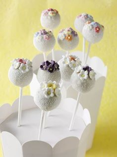 Very pretty cake pops - great for wedding shower