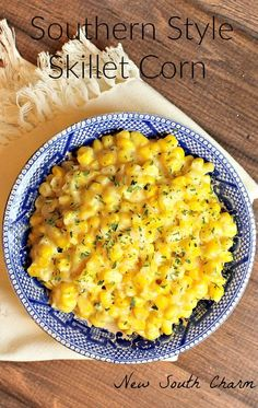 Sweet and creamy Southern Style Skillet Corn from New South Charm.