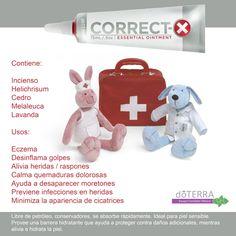 #Correct-X uno de las innovaciones de #doTERRA, especial para sanar #heridas naturalmente con #aceites_esenciales contiene #helichrisum #melaleuca #cedro #lavanda #incienso