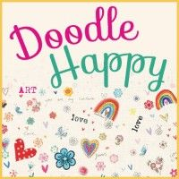 "Doodle Happy with ""Doodle Trees and Happy Bees"" book, ""Zen Doodle Workshop"" Spring 2016 magazine, and Gelly Roll Startdust Glitter Pens! Zen Doodle, Doodle Art, Zentangle Patterns, Doodles, Kit, Learning, Happy, Coloring, Drawing"