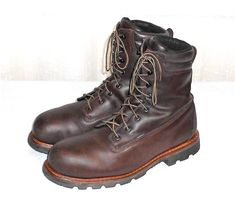 Red Wing 4405 Brown Steel Toe Thinsulate Insulated Safety Work Boot Men US 12 #RedWingShoes #WorkSafetyLaceUpBoot