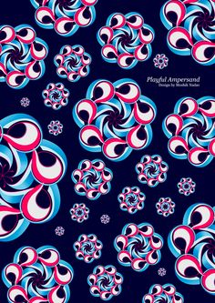 #Playful #Ampersand. #Moshik Nadav #Typography. #ampersands #experimental #typography #typo #font #fonts #type #fashion #sleek #outline #silhouette #graphic #art #3D #dimension #shapes #geo #flower #navy #fuchsia #galactic #galaxy #flowers #play #experiment #ampersand