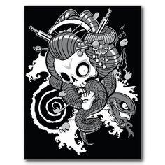 Ghost Geisha - postcard