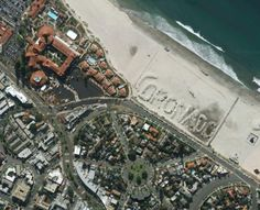 View from the air of Coronado, CA cheesy manmade dunes, but look great at sealevel : )