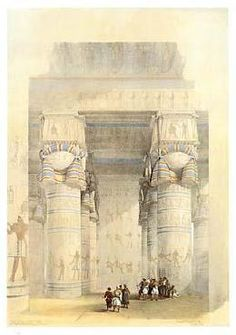 """""""Egypt - Temple of Dendra"""" by David Roberts  (available at www.prints.com)"""