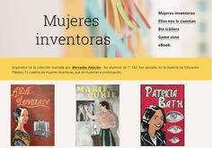 PREMIO - Mujeres inventoras - Equipo iBalart investiga. IES Federico Balart (Pliego, Murcia). 1º ESO. Coordinado por Ana Fuentes Llamas Murcia, Llamas, Inventors, Door Prizes, Fonts, Women
