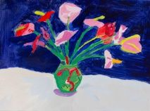 Stuart art replicas: Mt. Fuji and Flowers (David Hockney) Junior K