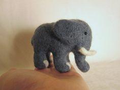 Felted Elephant  Needle Felted Animal by ThePineappleCatz on Etsy, $27.00
