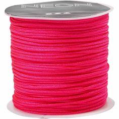 Macramé koord, dikte 1 mm, 28 m, neon roze