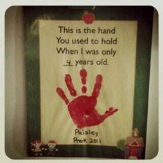Love it! Child's hand print idea.
