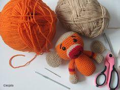 Sock Monkey Free Crochet Pattern ~ Amigurumi To Go
