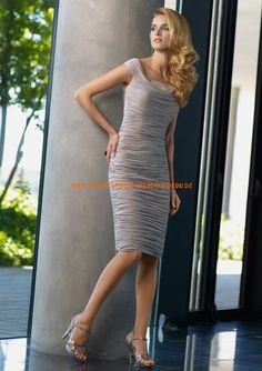 Billige Abendkleider kurz aus Taft im Kolumnestil online kaufen 2013