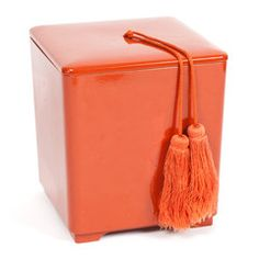 orange tassel ice bucket via mrs. lillien.
