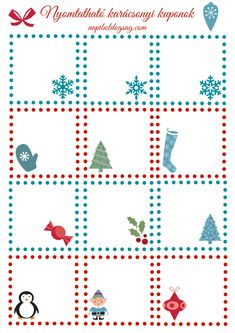 karácsonyi kuponok 2 Winter Crafts For Kids, Winter Kids, 1 Advent, Merry Xmas, Xmas Gifts, Gift Tags, Christmas Diy, Arts And Crafts, Bullet Journal