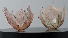Kay Sekimachi leaf bowls - Copyright © 2014 browngrotta arts; photo © Tom Grotta