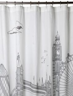 London Shower Curtain Bedding Eclectic Shower Curtains Shower