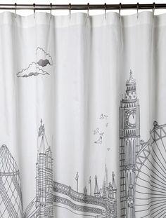 London Shower Curtain  Item #: 203115