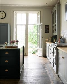 """2,069 Likes, 18 Comments - deVOL Kitchens (@devolkitchens) on Instagram: """"Wonderfully high ceilings, ornate coving and beautiful doors leading to a pretty garden filled with…"""""""