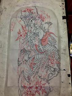 New Ideas Tattoo Dragon Tatoo Ink Japanese Dragon Tattoos, Japanese Tattoo Art, Japanese Tattoo Designs, Filipino Tattoos, Asian Tattoos, Evil Mermaids, Japanese Artwork, Oriental Tattoo, Japan Tattoo