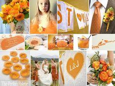 Solteiras Noivas Casadas: Decoração do Casamento: Amarelo, Laranja e Branco