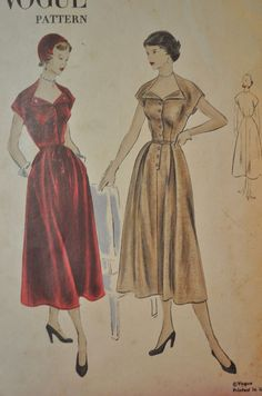 Vogue 3302 Beautiful 1940s Dress Pattern RARE by Clutterina
