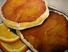 Pancake and oranges by Vic Vicini