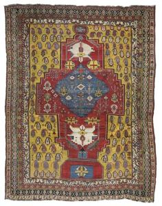 BAKHTIARI CARPET  NORTH WEST PERSIA, CIRCA 1880  Some areas of wear, a few small areas of repiling, some small repairs, selvages rebound, one end not complete 17ft. x 12ft.11in. (518cm. x 394cm.)