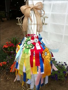 Great idea for horse show ribbons. Horse Ribbon Display, Horse Show Ribbons, Diy Ribbon, Ribbon Crafts, Horse Racing Party, Fun Crafts, Arts And Crafts, Award Display, Barn Parties