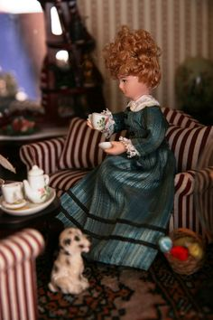 Madame aan de koffie