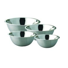 Stainless Steel Footed Deep Mixing Bowls Set of 4 Pcs  14cm16cm22cm24cm Stainless Steel >>> Check out this great product.