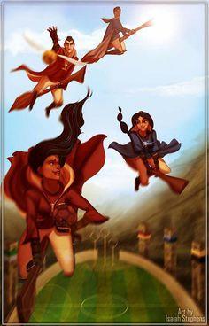 Pocahontas & Shang vs. Jasmine & Naveen Quiddich match!!